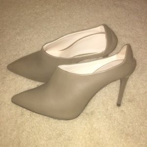 Zara leather heels brand new